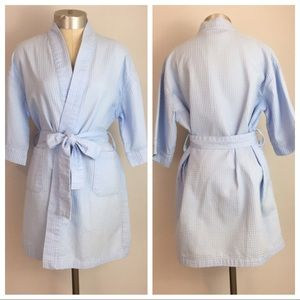{AEGEAN APPAREL} LIGHT BLUE BATH ROBE